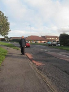 Cllr Mike Carling in Greenstone Road